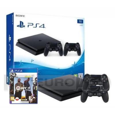 Sony PlayStation 4 Slim 1TB + 2 pady + EA Sports UFC 4