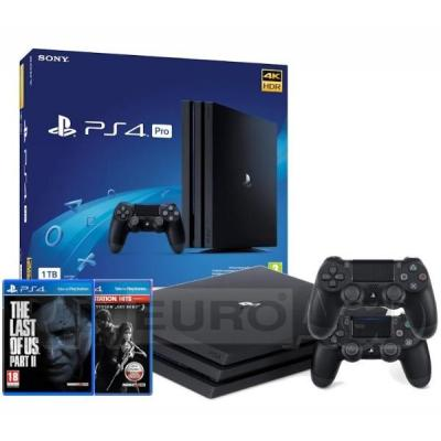Sony PlayStation 4 Pro 1TB + The Last of Us + The Last of Us Part II + 2 pady