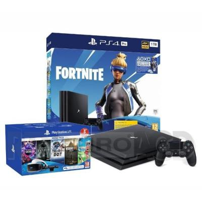 Sony PlayStation 4 Pro 1TB Fortnite Neo Versa Bundle + PlayStation VR Megapack V2
