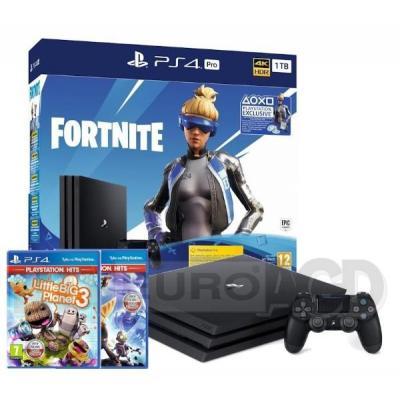 Sony PlayStation 4 Pro 1TB Fortnite Neo Versa Bundle + Ratchet & Clank + Little Big Planet 3