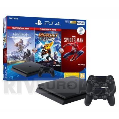 Sony PlayStation 4 Slim 500GB + Horizon Zero Dawn EK + Marvel's Spider-Man + Ratchet & Clank + 2 pady