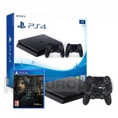 Sony PlayStation 4 Slim 1TB + 2 pady + Death Stranding