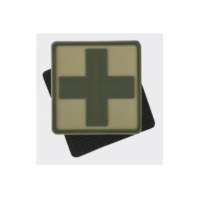Emblemat helikon medyk pvc beż-khaki