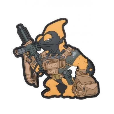 Emblemat helikon chameleon firearm instructor - czarny-black / żółty a (od-cfi-rb-0126a)