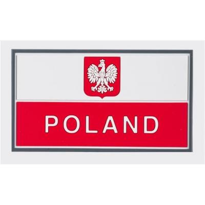 Emblemat helikon flaga pl z godłem (90 x 50 mm) - pvc - standard (od-p29-rb-20)