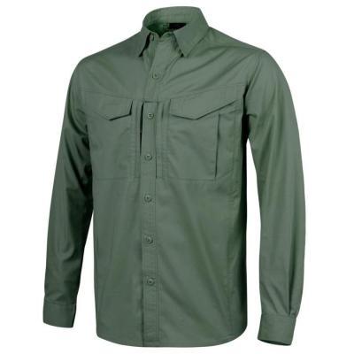 Koszula defender mk2 long sleeve - polycotton ripstop - olive green - large (ko-df2-pr-02-b05)