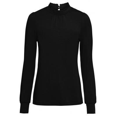 Shirt z długim rękawem bonprix czarny