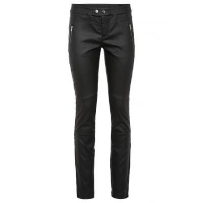 Spodnie ze sztucznej skóry bonprix czarny