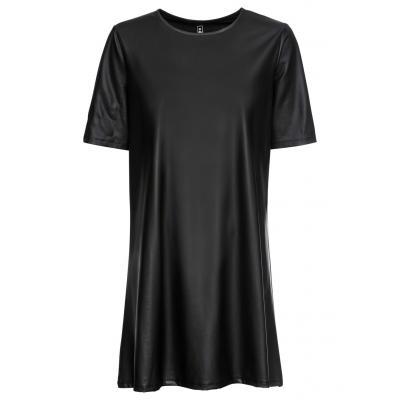 Sukienka ze sztucznej skóry bonprix czarny
