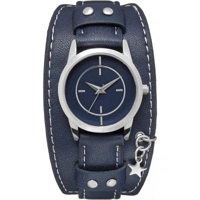 Zegarek na rękę bonprix ciemnoniebiesko-srebrny kolor