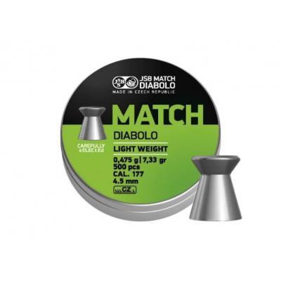 Śrut diabolo jsb match light 4,49/500 (061-053)