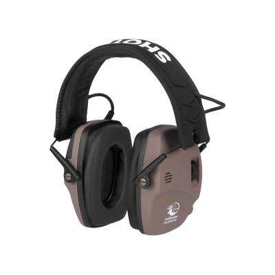 Słuchawki realhunter active proshot bt brązowe (258-051)
