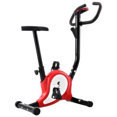 Emaga vidaxl rowerek do ćwiczeń z paskiem oporowym, czerwony