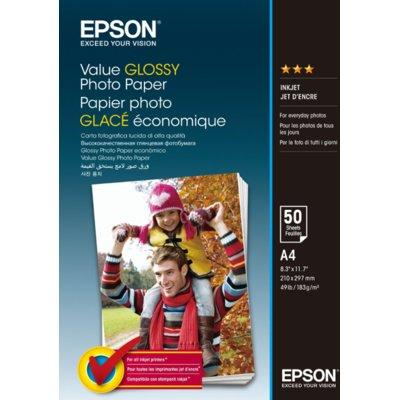 Papier EPSON Value Glossy Photo Paper A4 50 ark 200.g/m2 C13S400036