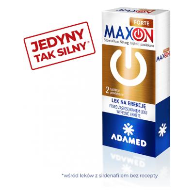 Maxon Forte, 50 mg, tabletki powlekane, 2 sztuki.