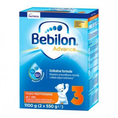Bebilon 3 Pronutra-Advance, mleko modyfikowane po 1. roku, proszek, 1100 g (2 x 550 g)