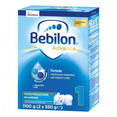Bebilon 1 Pronutra-Advance, mleko początkowe od urodzenia, proszek, 1100 g (2 x 550 g)