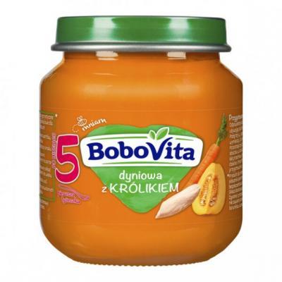 BoboVita, zupka dyniowa z królikiem, 125 g.