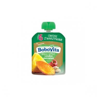 BoboVita, ananas z jabłkiem i słodkim ziemniakiem, 80 g