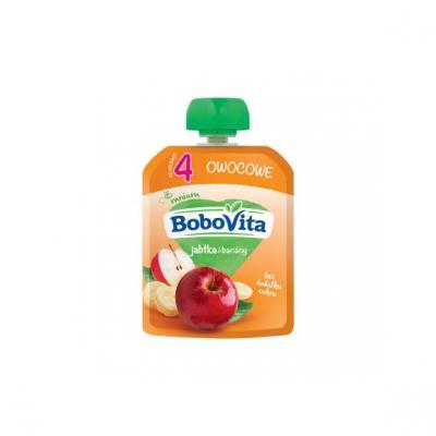 BoboVita, jabłka i banany, po 4 miesiącu, 80 g