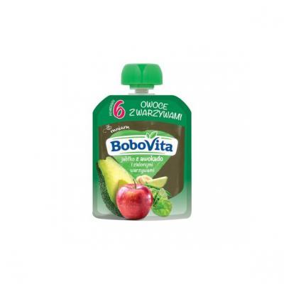 BoboVita, jabłko z awokado i zielonymi warzywami, 80 g