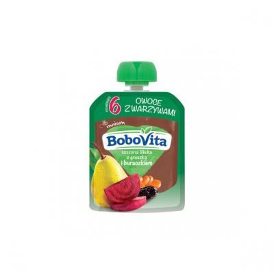 BoboVita, suszona śliwka z gruszką i buraczkiem, 80 g