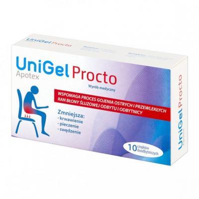 UniGel Apotex Procto, czopki, 10 szt.
