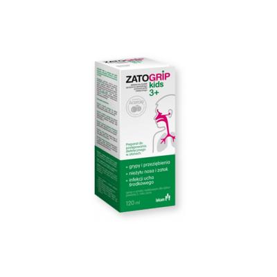 Zatogrip kids 3+, syrop o smaku malinowym, 120 ml