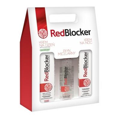 Zestaw Promocyjny RedBlocker, płyn micelarny, 200 ml + krem na dzień, 50 ml + krem na noc, 50 ml.