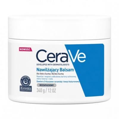 CeraVe, nawilżający balsam z ceramidami do skóry suchej i bardzo suchej, 340 g