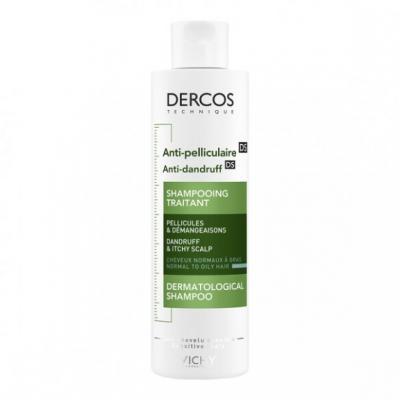 Vichy Dercos, szampon przeciwłupieżowy, włosy normalne i przetłuszczające się, 200 ml