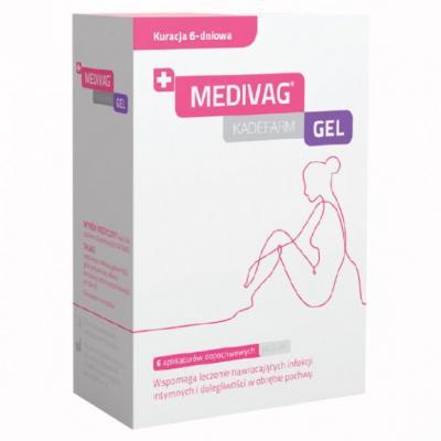 Medivag gel, żel dopochwowy, 6 aplikatorów x 5 ml