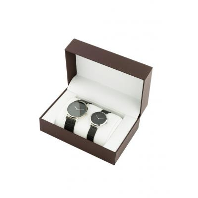 Komplet zegarków (2 części) bonprix czarno-srebrny kolor