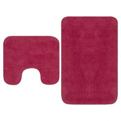 Emaga vidaxl 2-częściowy zestaw mat łazienkowych, tkanina, fuksja