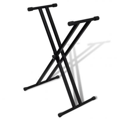 Emaga statyw pod keyboard, podwójny, regulowana wysokość, kształt x