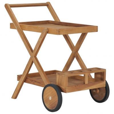 Emaga vidaxl wózek herbaciany, lite drewno tekowe
