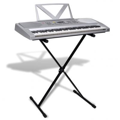 Emaga zestaw keyboard elektryczny 61 klawiszy+statyw na nuty+statyw