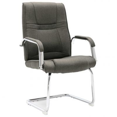 Emaga vidaxl krzesło biurowe, wspornikowe, szare, tkanina