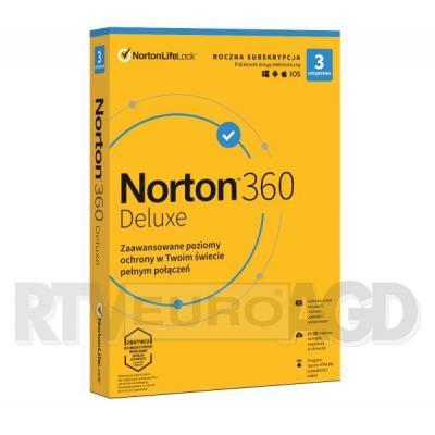 Norton 360 Deluxe 25GB (3 urządzenia / 1 rok)