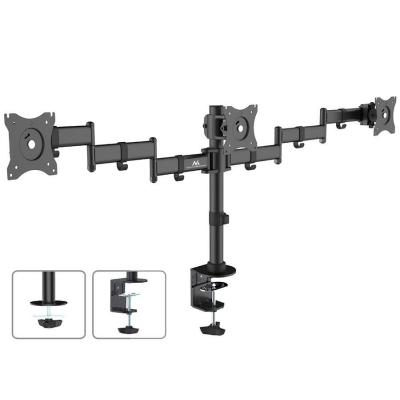 "Emaga uchwyt biurkowy na 3 monitory lcd podwójne ramiona maclean mc-691 13""-27"" 8kg, vesa 75x75 oraz 100x100"