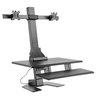 Emaga podwójny elektryczny uchwyt do monitorów klawiatury mc-796 do pracy stojąco-siedzącej max zmiana 60cm