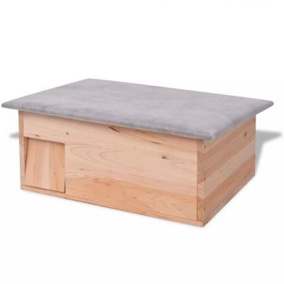 Emaga vidaxl domek dla jeży, 45x33x22 cm, drewniany