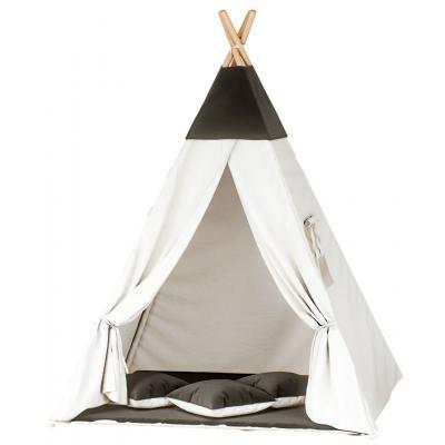 Namiot tipi dla dzieci, bawełna, czarny