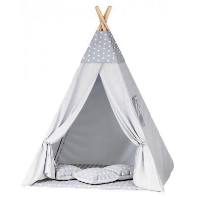 Namiot tipi dla dzieci, szary, gwiazdki