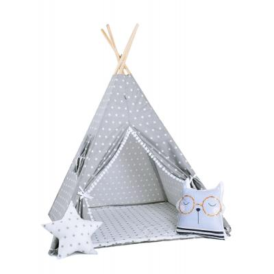 Namiot tipi dla dzieci, bawełna, okienko, kotek, królicza łapka