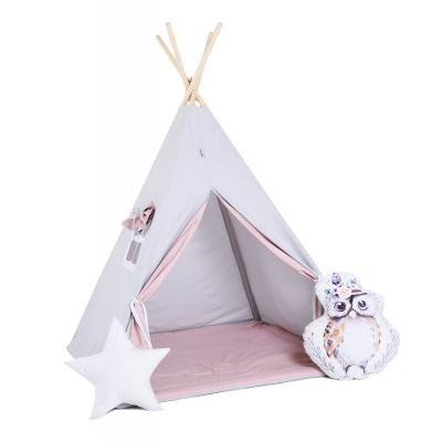 Namiot tipi dla dzieci, bawełna, okienko, sowa, cukrowy sopelek