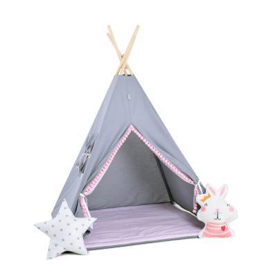 Namiot tipi dla dzieci, bawełna, okienko, królik, bąbelkowe