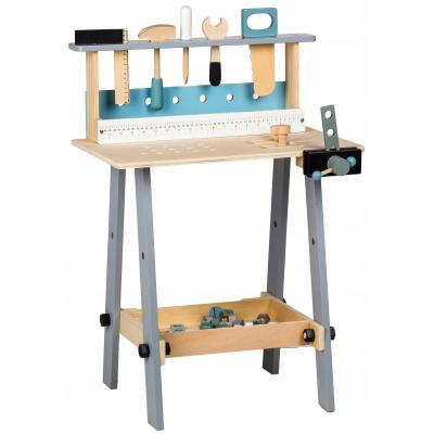 Drewniany warsztat dla dzieci, narzędzia,  32 elementy w zestawie