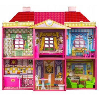 Domek dla lalek, dla dzieci, Willa, mebelki w zestawie