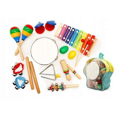 Zestaw muzyczny dla dzieci, 10 instrumentów, plecak